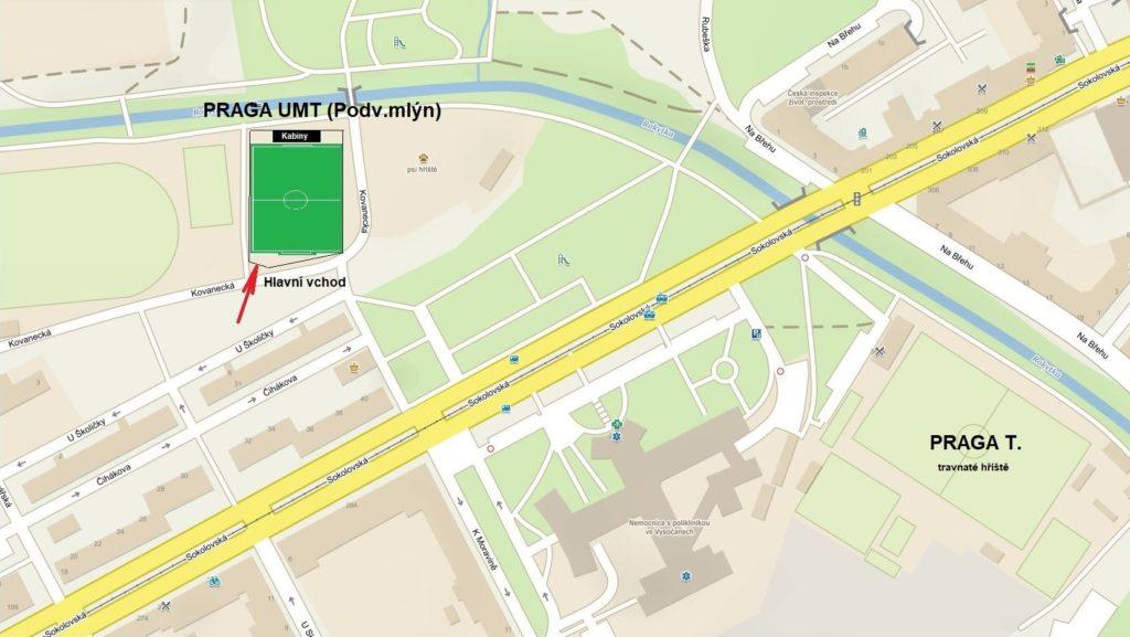 Mapa UMT Podvinný mlýn